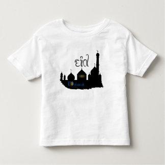 Silhouette de mosquée d'Eid Mubarak - le T-shirt