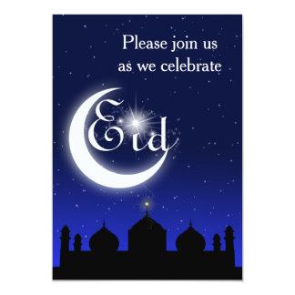 Silhouette de mosquée la nuit - invitation de