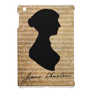 Silhouette de page de Jane Austen Coque Pour iPad Mini