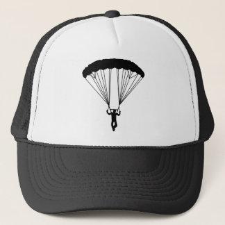 silhouette de parachutiste casquette