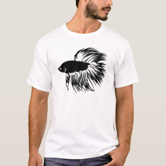 Silhouette de poissons de Betta T-shirt