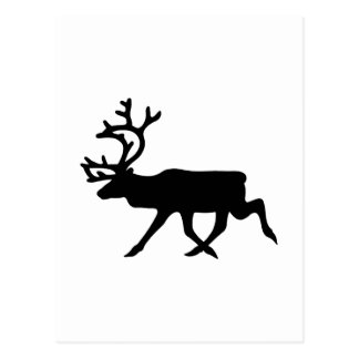 Silhouette de renne cartes postales