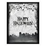 Silhouette de scène de cimetière de Halloween