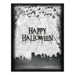 Silhouette de scène de cimetière de Halloween Tract