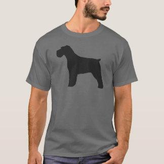 Silhouette de Schnauzer avec les oreilles T-shirt