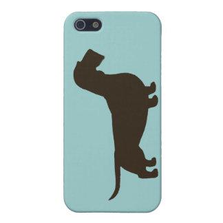Silhouette de teckel (Dachsie à poils durs) Étuis iPhone 5
