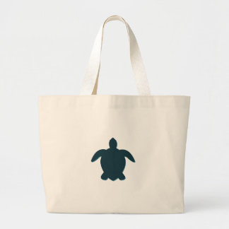 Silhouette de tortue de mer avec l'ombre grand sac
