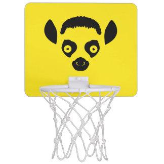 Silhouette de visage de lémur mini-panier de basket