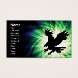 Silhouette d'Eagle chauve ; Cool Cartes De Visite