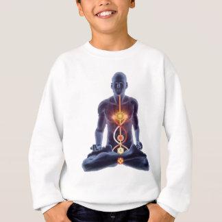 Silhouette d'homme dans la pose éclairée de sweatshirt