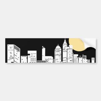Silhouette d'horizon de New York Adhésif Pour Voiture