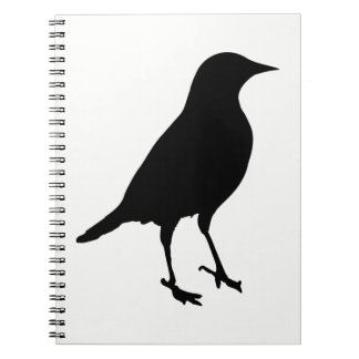 Silhouette d'oiseau carnet