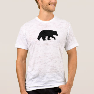 Silhouette d'ours noir t-shirt