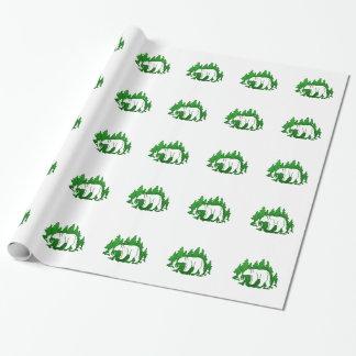 Silhouette d'ours papier cadeau noël