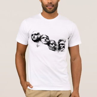 Silhouette du mont Rushmore T-shirt