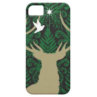 Silhouette d'un cerf commun, d'une colombe et coques Case-Mate iPhone 5