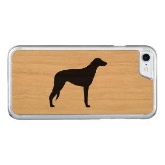 Silhouette écossaise de limier coque iphone 7 en bois