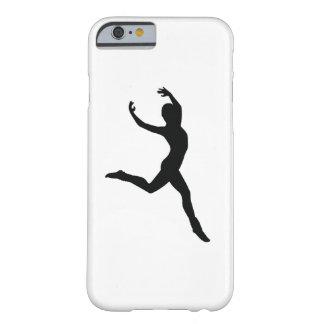 Silhouette élégante de noir de danse de ballet coque iPhone 6 barely there