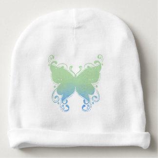 Silhouette en pastel de papillon - calotte de bébé bonnet de bébé
