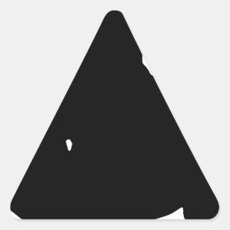Silhouette faisante de la planche à roulettes de sticker triangulaire