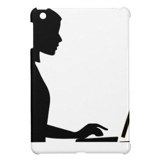 Silhouette femelle d'ordinateur coque pour iPad mini