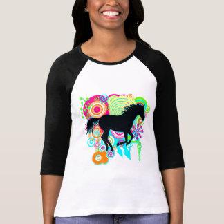 Silhouette galopante de cheval t-shirt