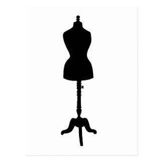 Silhouette II de forme de robe Carte Postale