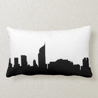 silhouette Indonésie d'horizon de ville de Jakarta Coussins Carrés