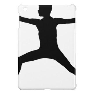 Silhouette masculine de pose de yoga coques pour iPad mini
