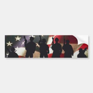 Silhouette militaire patriotique de soldat autocollant de voiture