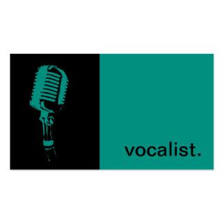Silhouette moderne d'icône - noir/gris du chanteur carte de visite standard