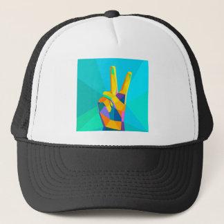 Silhouette moderne o de style géométrique de main casquette