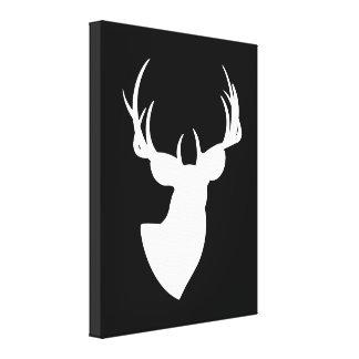 Silhouette noire et blanche de cerfs communs toiles