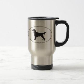 Silhouette Plat-Enduite de chien d'arrêt Mug De Voyage