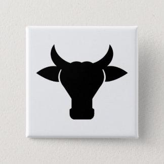 Silhouette principale de vache pin's