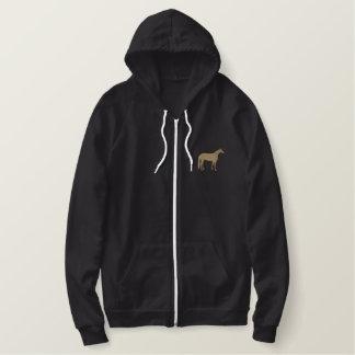 Silhouette quarte de cheval sweatshirt à capuche brodé