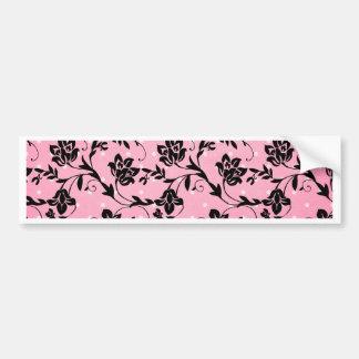 Silhouette rose, noire, blanche autocollant de voiture