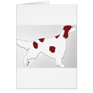 silhouette rouge et blanche irlandaise de couleur carte de vœux