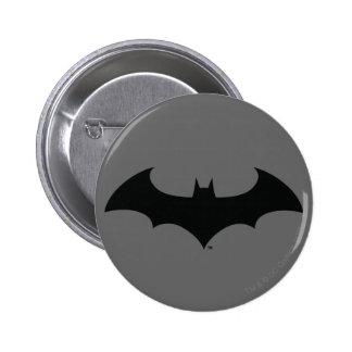 Silhouette simple de batte badge rond 5 cm