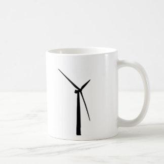 Silhouette simple d'énergie de vert de turbine de mug