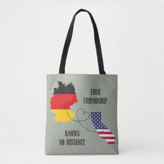 Silhouette Timo d'amitié de l'Allemagne la Tote Bag