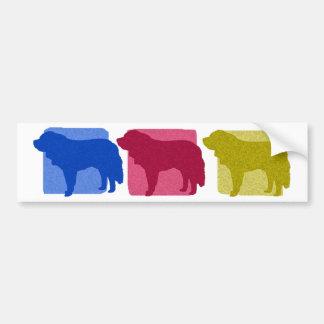 Silhouettes colorées de St Bernard Autocollant De Voiture