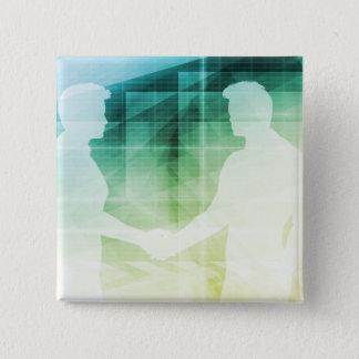 Silhouettes d'art se serrant la main deux d'homme pin's