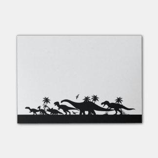 Silhouettes de dinosaure