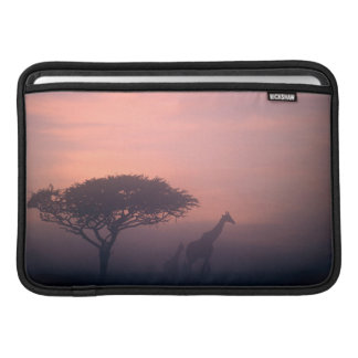 Silhouettes des girafes poche macbook air
