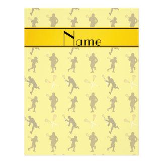 Silhouettes jaunes nommées personnalisées de prospectus personnalisés