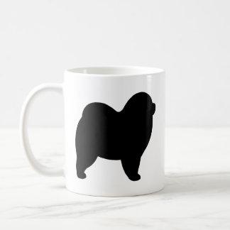 Silhouettes rugueuses de bouffe de bouffe mug