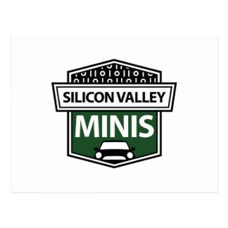 Silicon Valley Minis - carte postale verte de logo