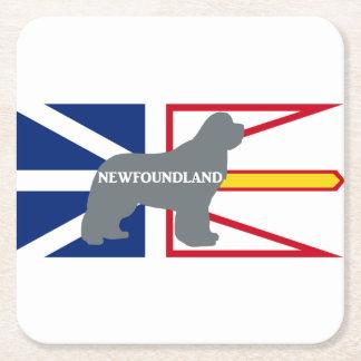 Silo nommé de Terre-Neuve sur le gris de drapeau Dessous-de-verre Carré En Papier