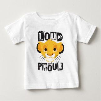Simba   fort et fier t-shirt pour bébé